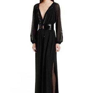 ALTUZARRA for Target Black Chiffon Slit Maxi Dress